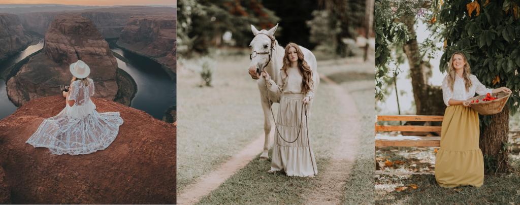 robe boheme sur cheval